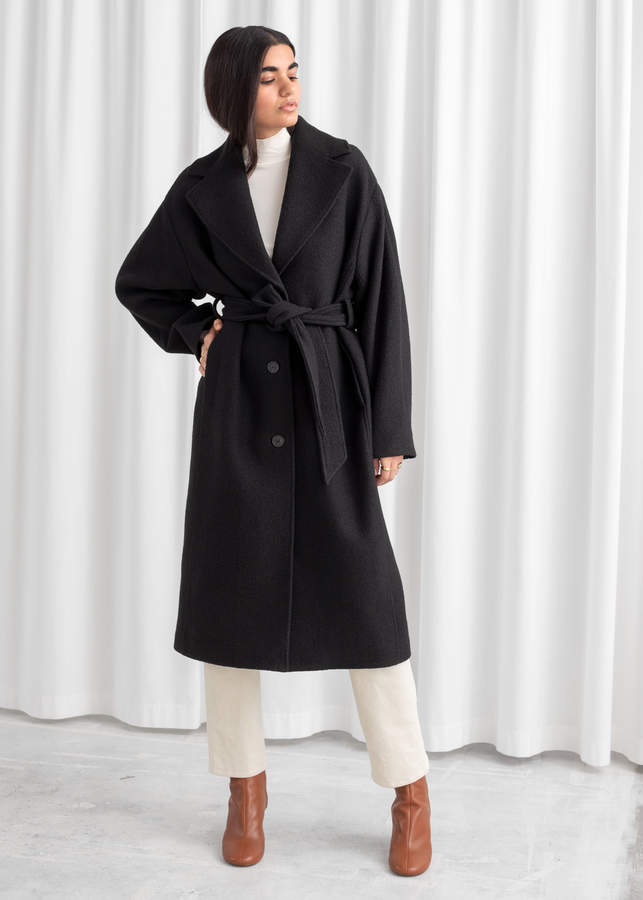 And other stories Oversized Belted Wool Coat