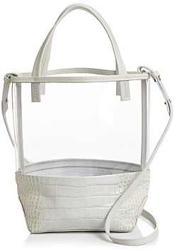 Alice.D Alice.d Small Clear & Leather Tote - 100% Exclusive