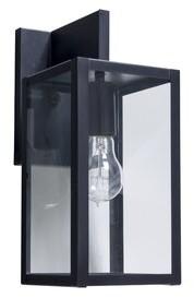 burnam 1 bulb outdoor wall lantern fixture finish antique brass shade finish clear size 13 h x 5 5 w x 9 d