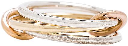 Spinelli Kilcollin Solarium Silver Ring in 18K Yellow Gold | FWRD