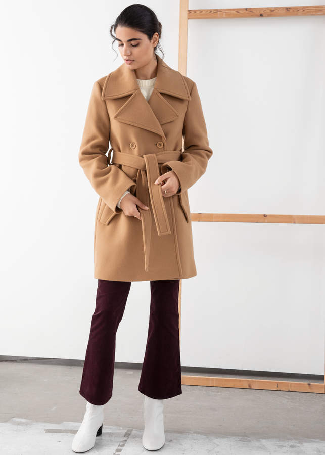 And other stories Double Breasted Belted Coat