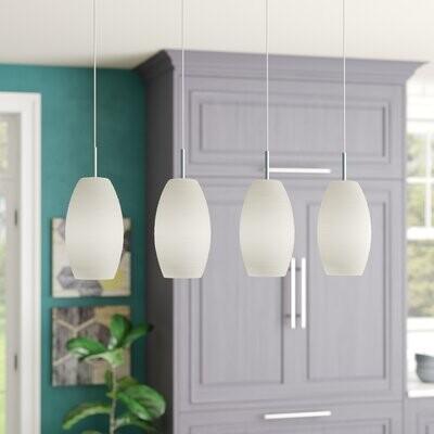 anna 4 light kitchen island linear pendant