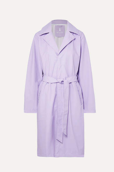Rains - Matte-pu Trench Coat - Lilac