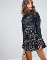 Free People The Lady Luck Printed Tunic Dress
