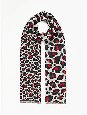Collection WEEKEND by John Lewis Leopard Print Scarf, Multi