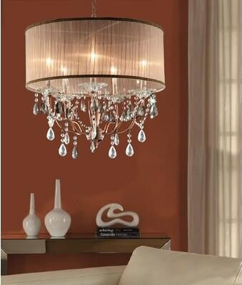 nyle 5 light unique statement drum chandelier