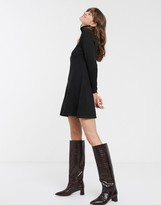 LONG SLEEVE JUMPER DRESS BLACK