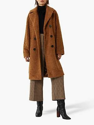 Warehouse Faux Fur Double Breasted Teddy Coat