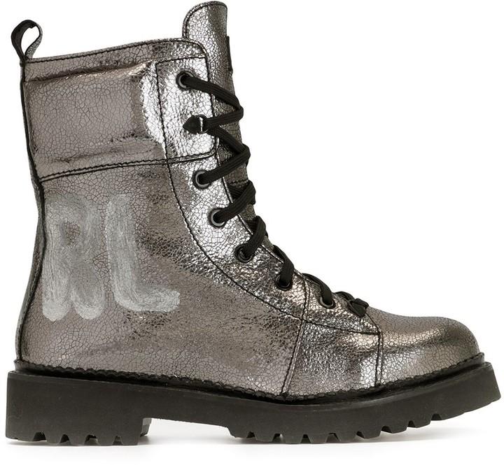 Kadet II metallic lace-up boots