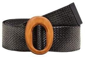 Braided wood belt