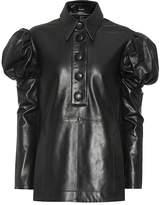 Ellery Breuer leather blouse