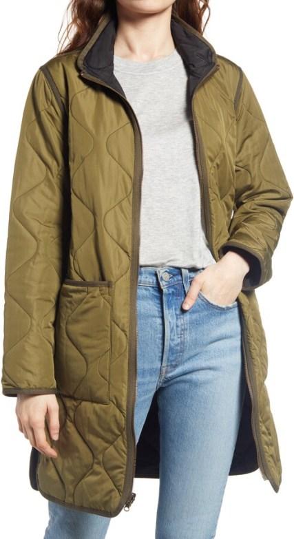 Thread & Supply padded military green jacket - hot Fall 2020 fashion jacket
