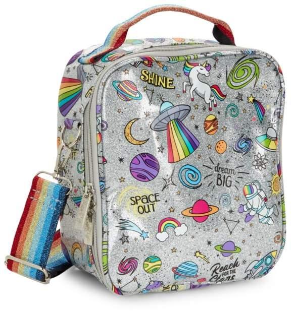 Bari Lynn Galaxy Rainbow Strap Lunch Box