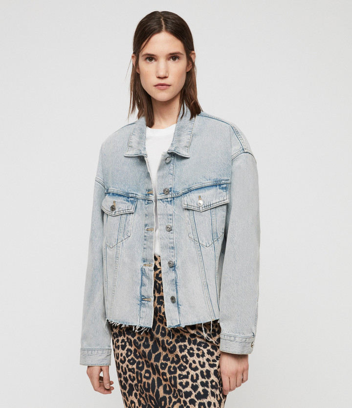 AllSaints Piper Oversized Denim Jacket