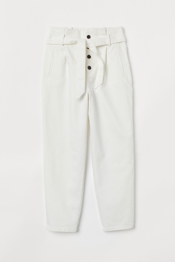 H&M Paper bag trousers