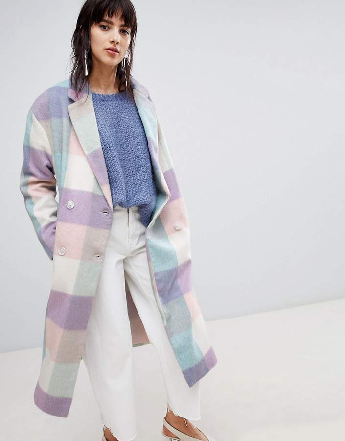 Asos Design ASOS DESIGN oversized check coat-Multi