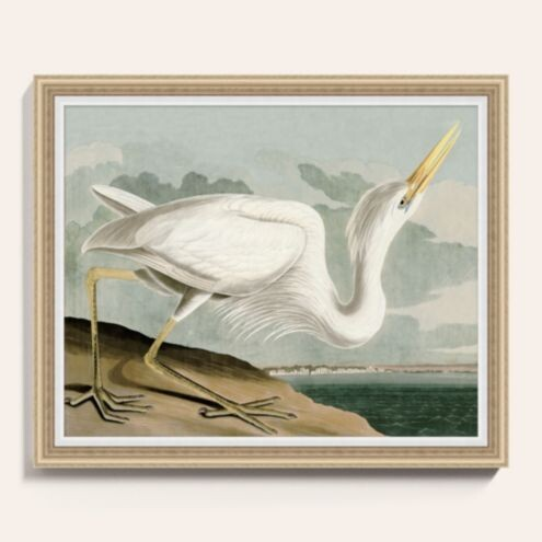 "Heron on the Bay Art 20"" x 24"" - Ballard Designs"
