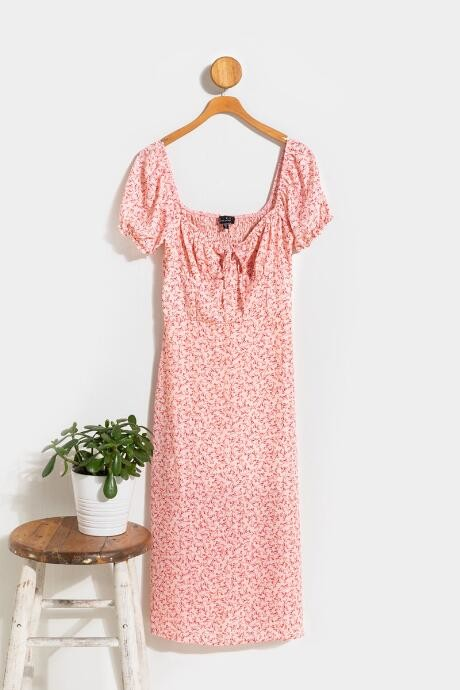Francesca's Laurel Floral Babydoll Midi Dress