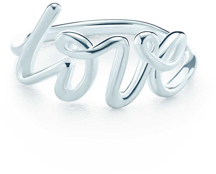 Tiffany & Co. Paloma's Graffiti love ring in sterling silver - Size 5