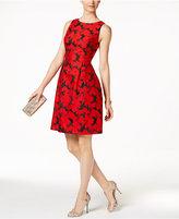Floral-Jacquard Dress