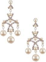 Cezanne Faux Pearl Chandelier Earrings