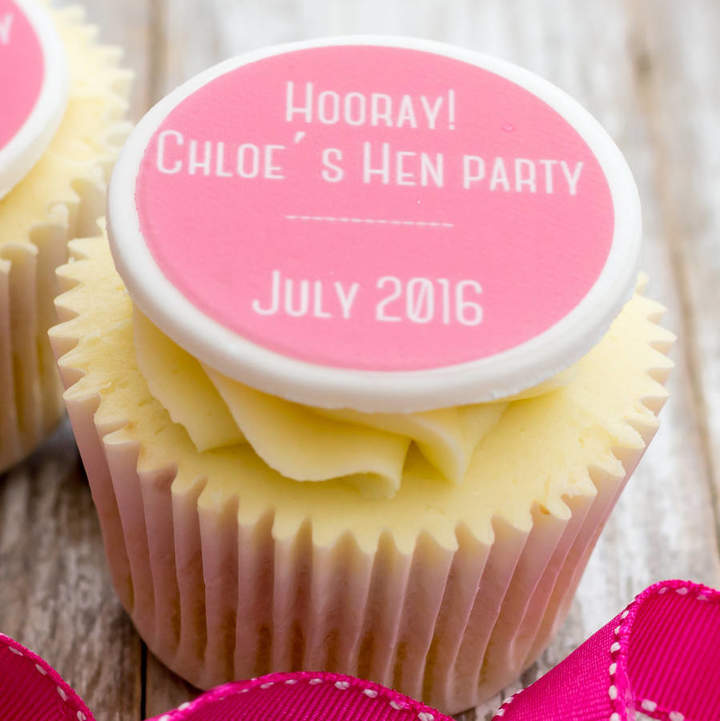 Just Bake Hoorah! Hen Party Cupcake Decorations