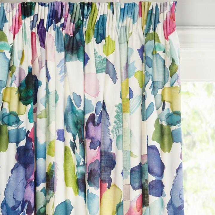 palette pair lined pencil pleat curtains