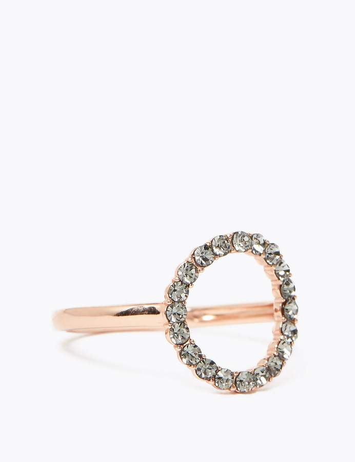M&S CollectionMarks and Spencer Sterling Silver Crystal Hoop Ring
