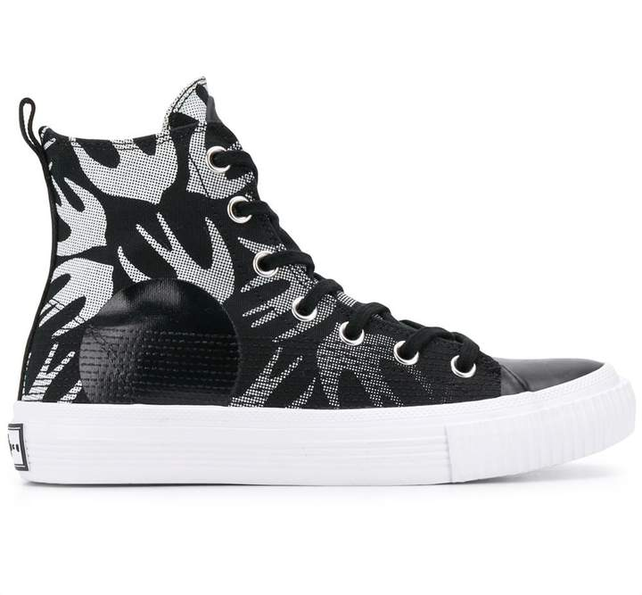 All-Over Print High-Top Sneakers