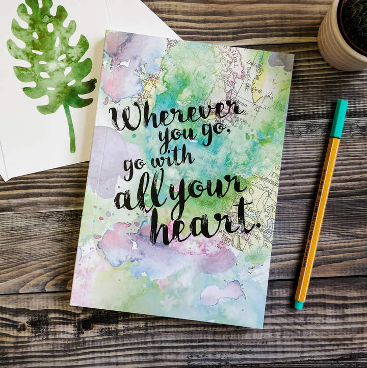 Bookishly 'Wherever You Go, Go With Your Heart' Travel Journal