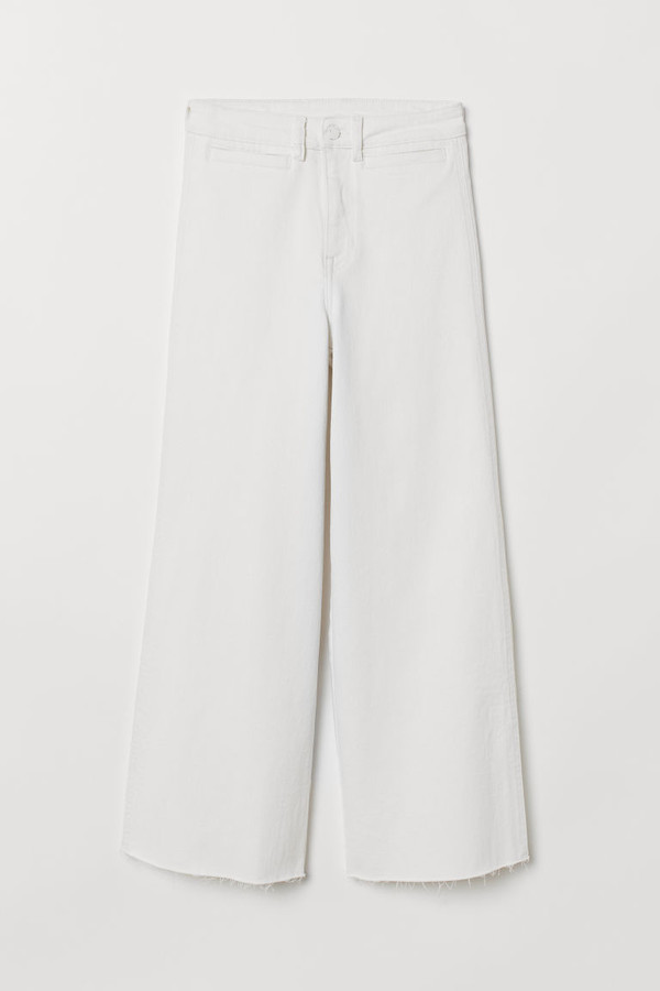 H&M - Culotte High Ankle Jeans - White