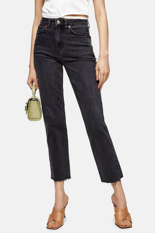 Womens Considered Washed Black Straight Jeans - Washed Black