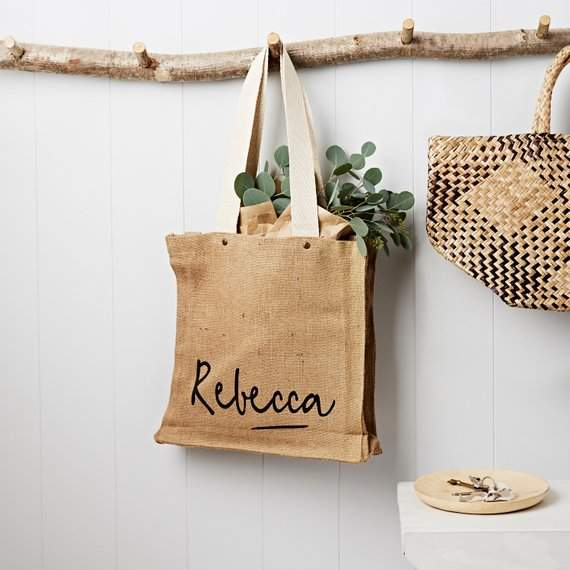 Personalised Name Hessian Bag