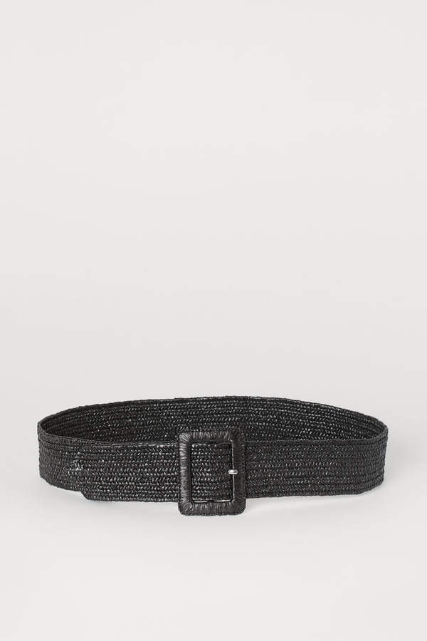 H&M - Braided Waist Belt - Black