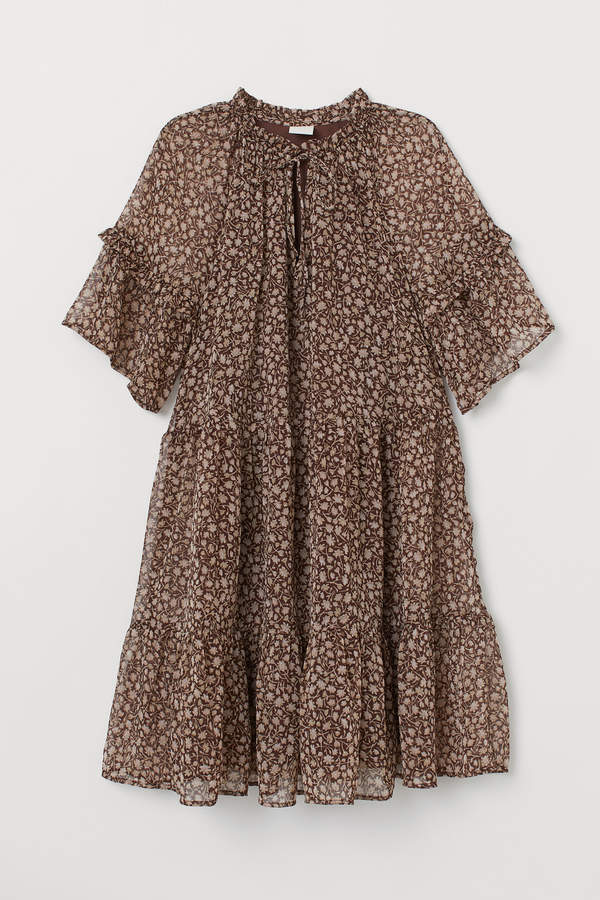 H&M Short chiffon dress
