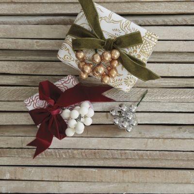 Glass Bubble Gift Ties - Set of 12 Caramel Brown - Ballard Designs