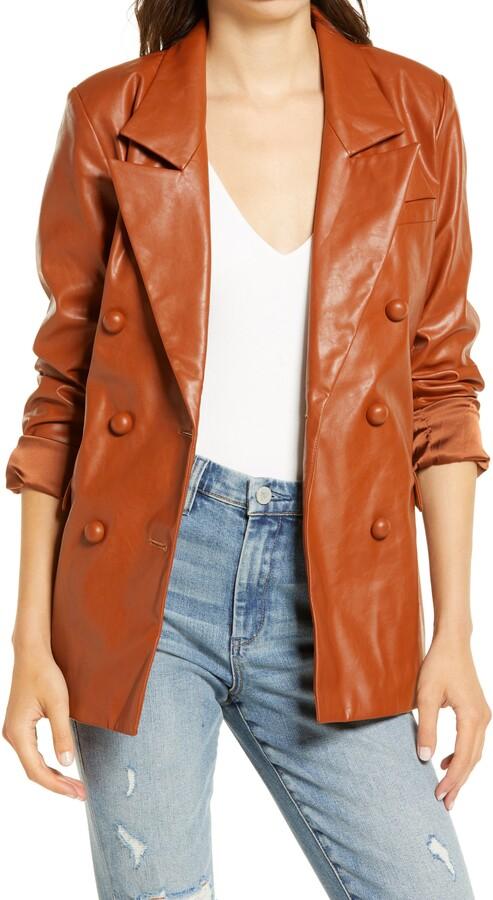 BLANKNYC The Nightingale Faux Leather Blazer