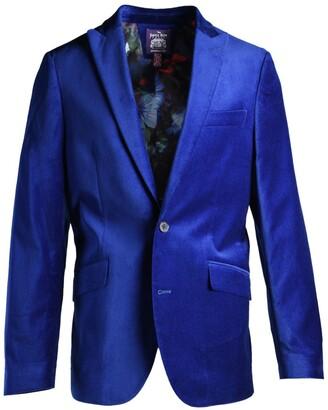 mens slim fit velvet blazer shop the