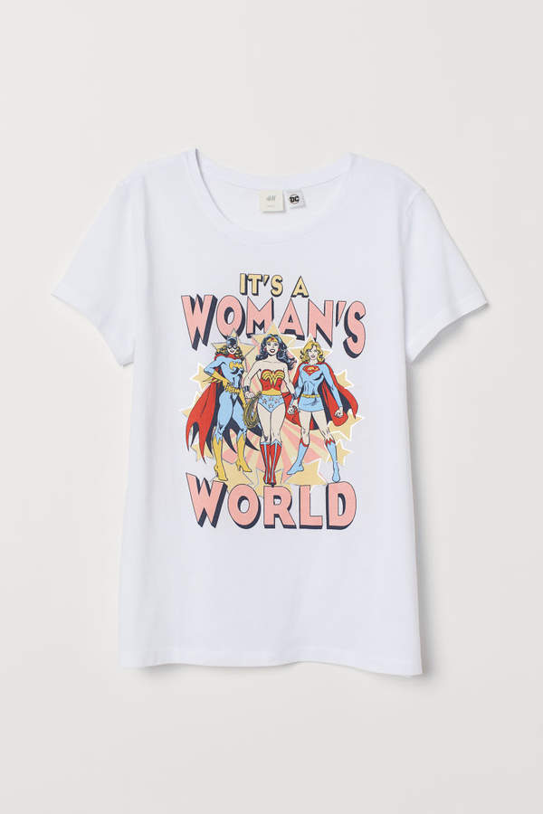 H&M - T-shirt with Motif - White