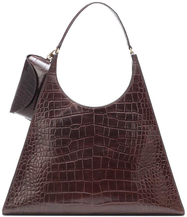 Staud Rey croc-effect leather shoulder bag