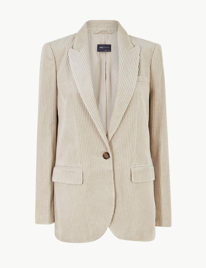 M&S CollectionMarks and Spencer Pure Cotton Corduroy Blazer