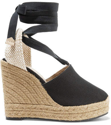 Castañer Castaner - Nerea 120 Canvas Wedge Espadrilles - Black