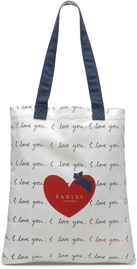 Radley Natural 'I Love You' Medium Tote Bag