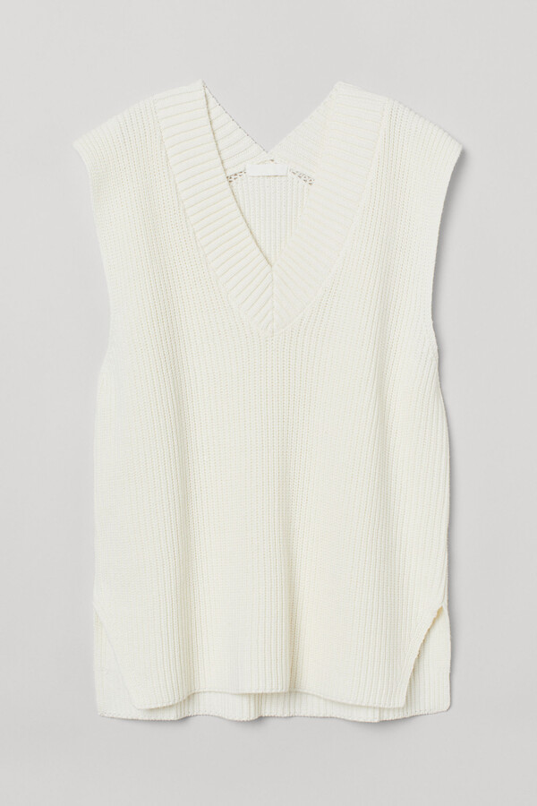 Rib-knit slipover