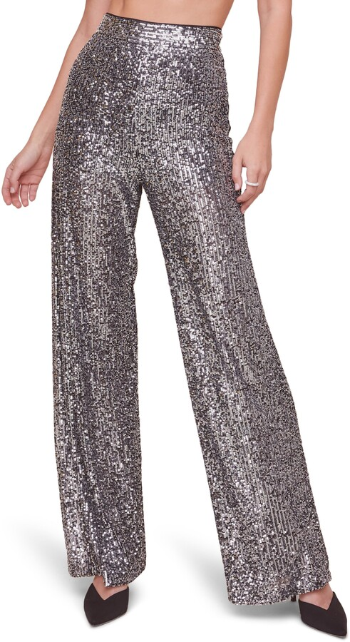 ASTR the Label - Selma Sequin Wide Leg Pants