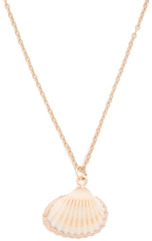 Forever 21 Seashell Pendant Necklace