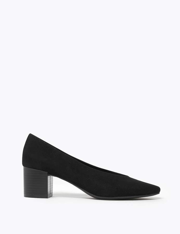 M&S CollectionMarks and Spencer Block Heel Almond Toe Court Shoes
