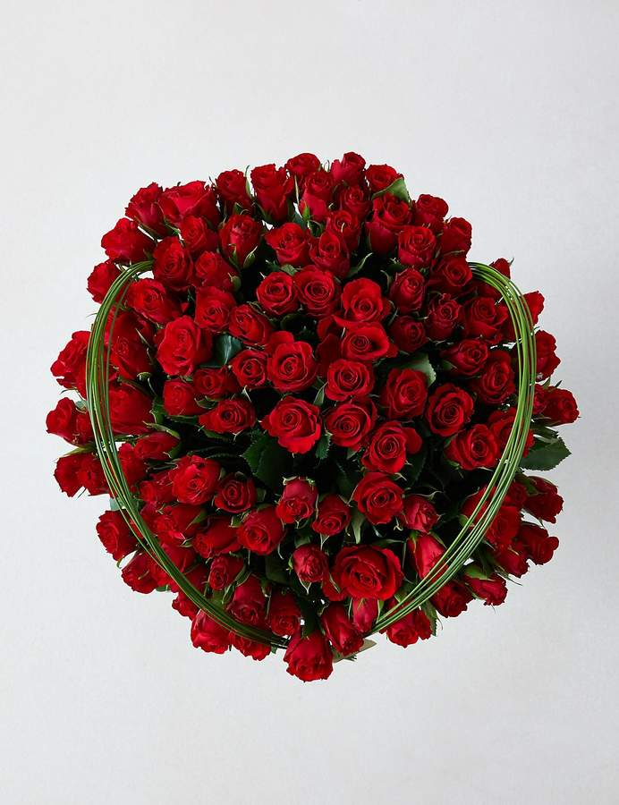Marks and Spencer Collection 100 Red Roses Bouquet (Delivery from 10th February 2020)