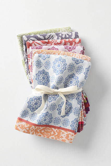Nifty Napkins, Set of 6 By Anthropologie in Assorted Size SET OF 6