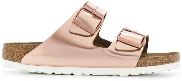 Arizona metallic strap sandals
